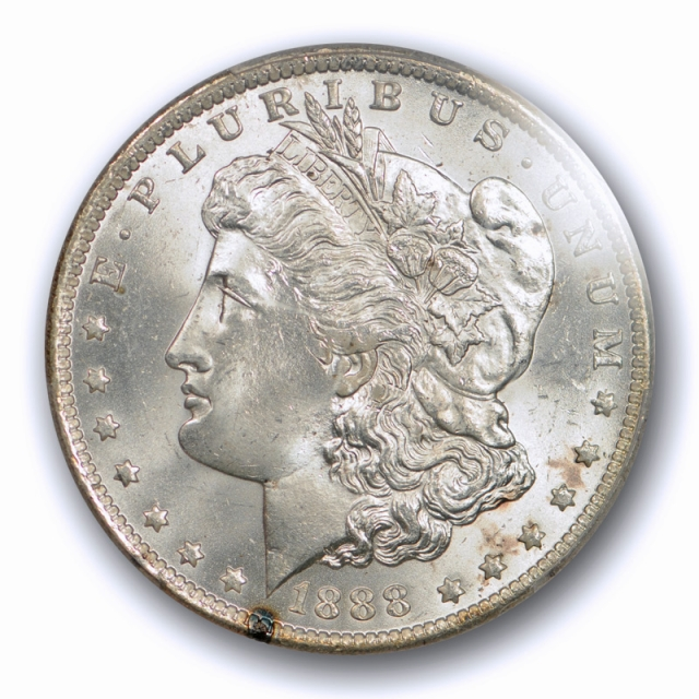 1888 O $1 Morgan Dollar PCGS MS 65 Uncirculated Mostly White Better Date Coin Flashy !
