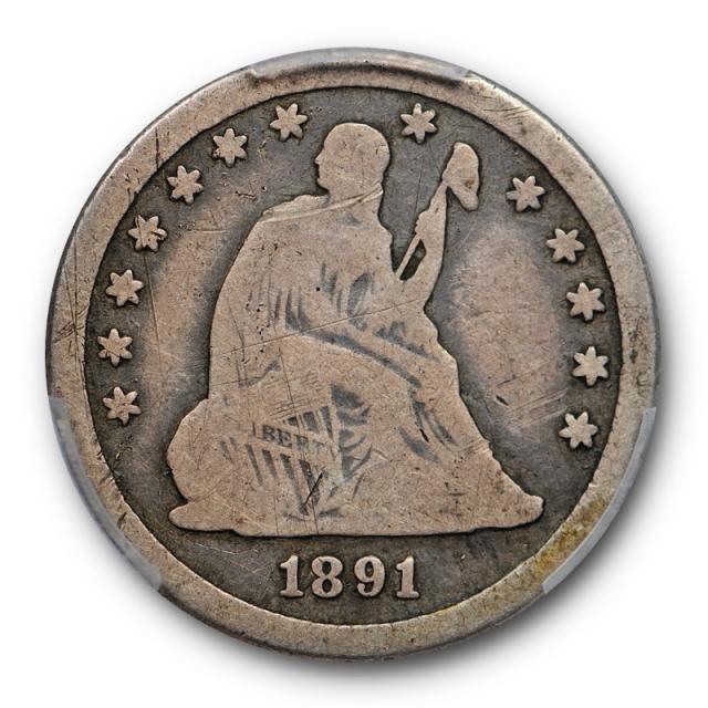 1891 O 25C Seated Liberty Quarter PCGS G 6 Good to Very Good Key Date Original Toned