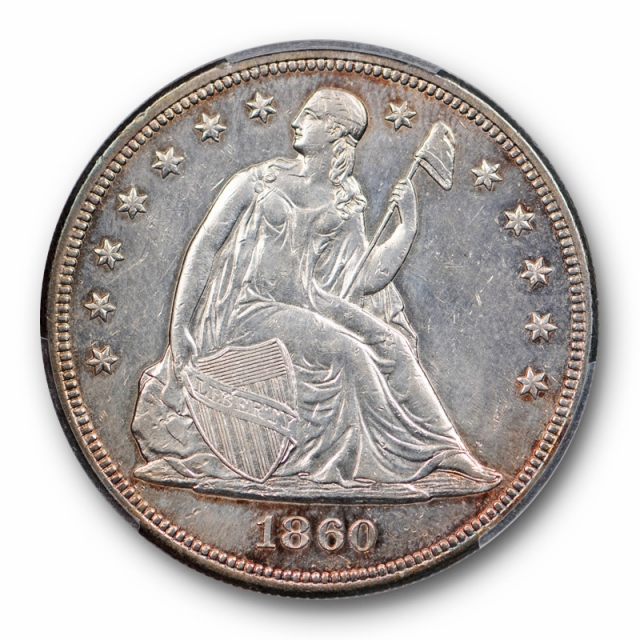 1860 $1 Seated Liberty Dollar PCGS AU About Uncirculated Details Key Date