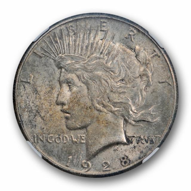 1928 $1 Peace Dollar NGC MS 61 Uncirculated Crusty Original Key Date Toned Coin