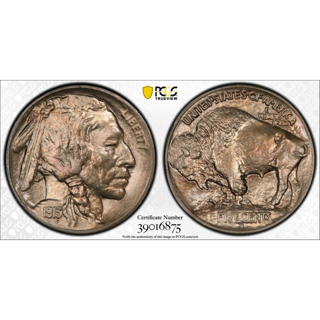 1913 S 5C Type 1 Buffalo Head Nickel PCGS MS 65 Uncirculated CAC Approved Nice !