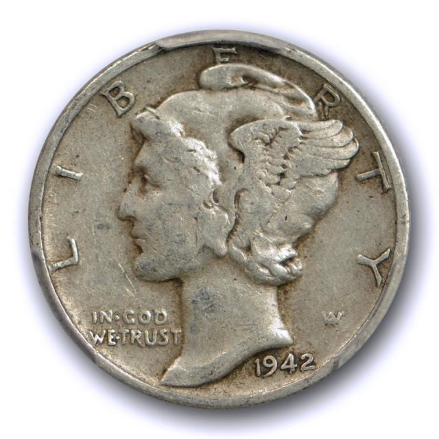 1942/1 D 10C Mercury Dime PCGS VF 30 Very Fine to Extra Fine 1942/41 Original