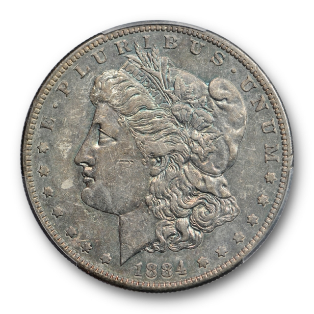 1884 S $1 Morgan Dollar PCGS XF 45 Extra Fine to About Uncirculated Toned