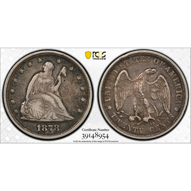 1878 20C Twenty Cent PCGS PR 35 Proof Only Issue Key Date Circulated Tough