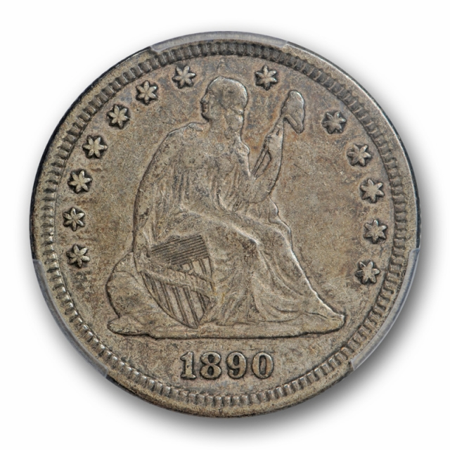 1890 25C Seated Liberty Quarter PCGS VF 30 Very Fine to Extra Fine Tough Date