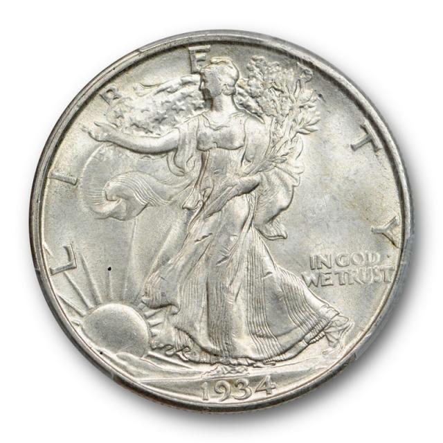 1934 D 50C Walking Liberty Half Dollar PCGS MS 63 Uncirculated Cert#2859