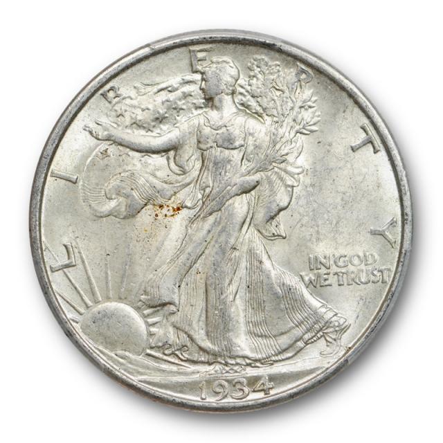 1934 D 50C Walking Liberty Half Dollar PCGS MS 62 Uncirculated Cert#2878