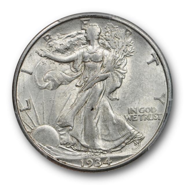1934 D 50C Walking Liberty Half Dollar PCGS AU 58 About Uncirculated Cert#2881