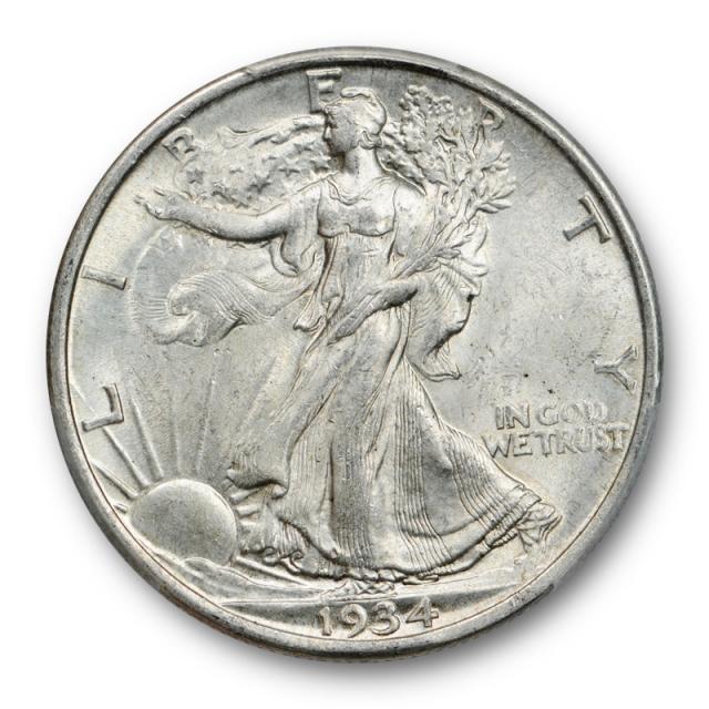 1934 D 50C Walking Liberty Half Dollar PCGS MS 63 Uncirculated Cert#2959