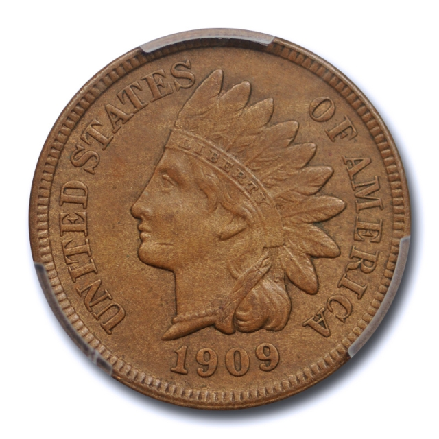 1909 S 1c Indian Head Cent PCGS AU 53 About Uncirculated Key Date Tough Coin !