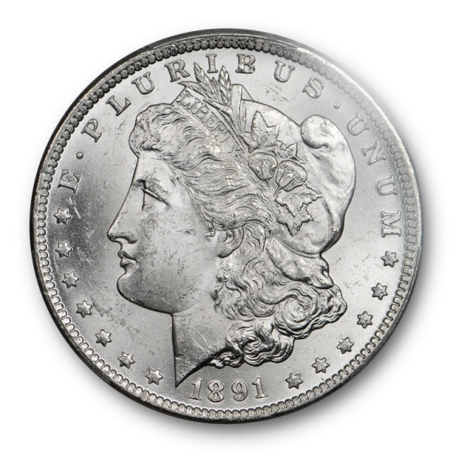 1891 CC $1 Morgan Dollar PCGS MS 63 Uncirculated Carson City Mint Blast White Cert#0802