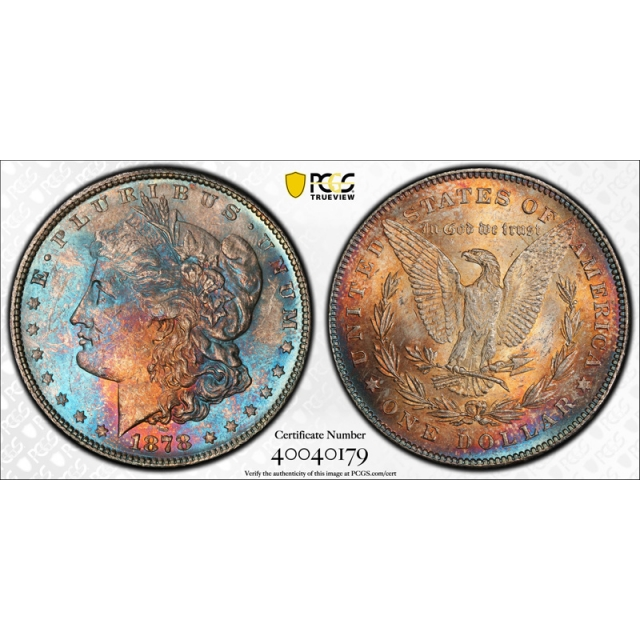 1878 7/8TF $1 Strong Morgan Dollar PCGS MS 62 Uncirculated Toned Beauty !