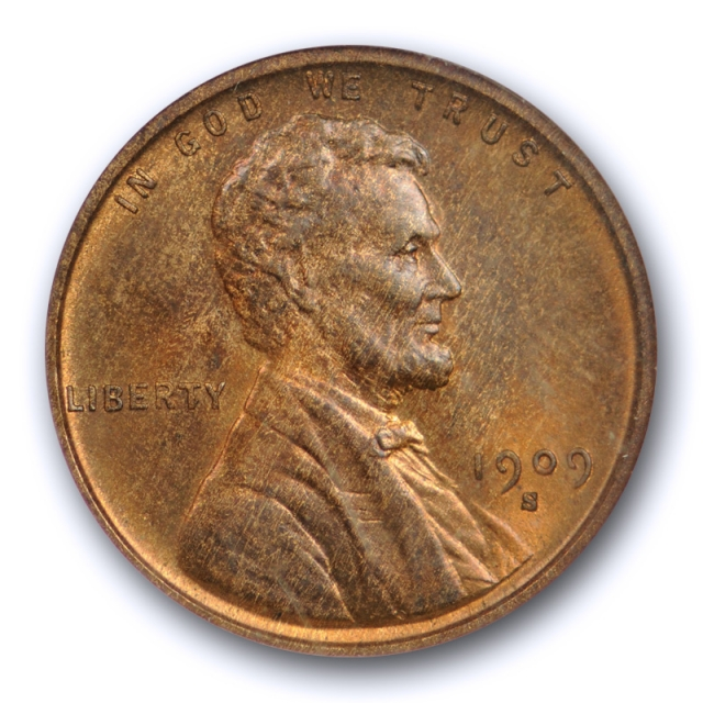 1909 S VDB 1C Lincoln Wheat Cent NGC MS 65 RB Uncirculated Red Brown CAC Approved !