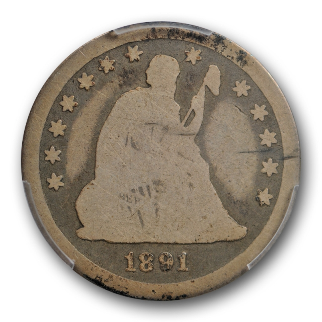 1891 O 25C Seated Liberty Quarter PCGS AG 3 About Good Key Date Tough !