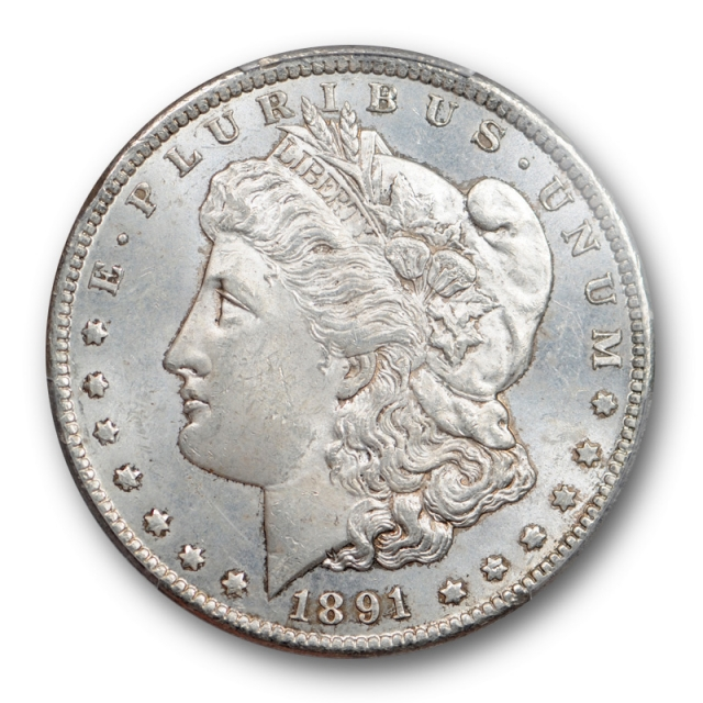 1891 CC $1 Morgan Dollar PCGS MS 63 Uncirculated Spitting Eagle CAC Approved Sharp