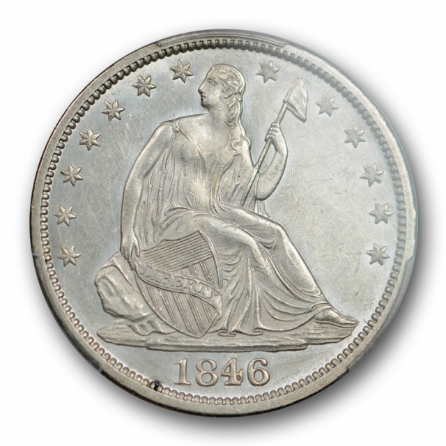 1846 O 50C Seated Liberty Half Dollar PCGS AU 58 About Uncirculated CAC WoW !