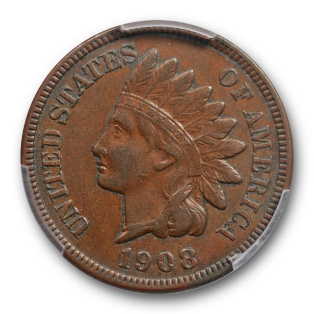 1908 S 1C Indian Head Cent PCGS XF 40 Extra Fine San Francisco Mint Key Date Cert#3588