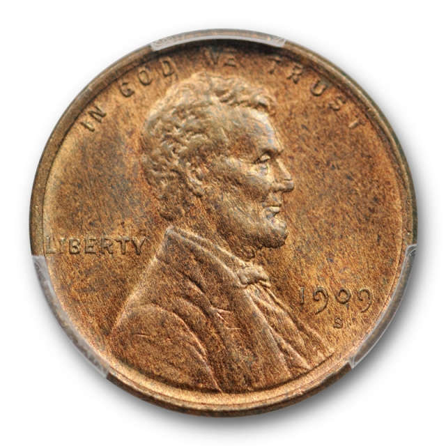 1909 S 1C Lincoln Wheat Cent PCGS MS 64 RB Uncirculated Red Brown Cert#9538