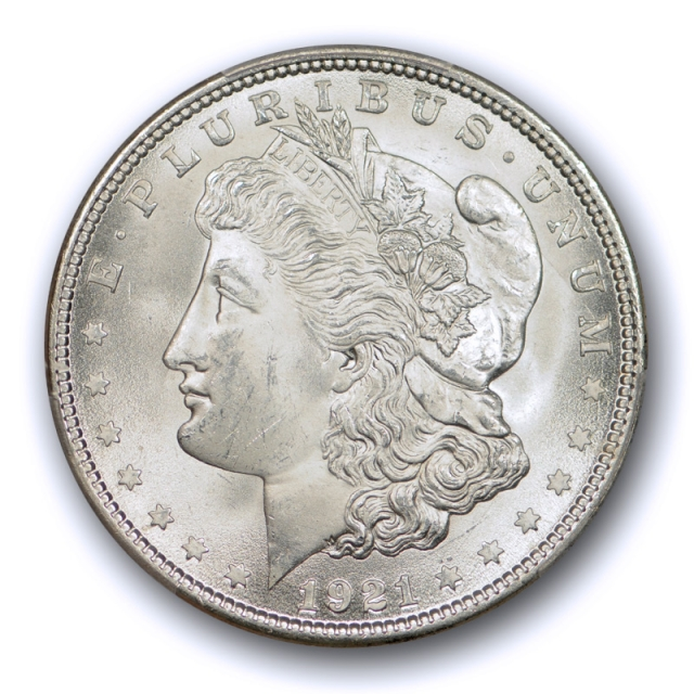 1921 $1 Morgan Dollar PCGS MS 65 Uncirculated 100% Blast White Exceptional !
