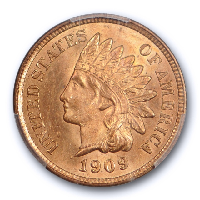 1909 1C Indian Head Cent PCGS MS 64 RD Uncirculated Fully Red Last Year of Series
