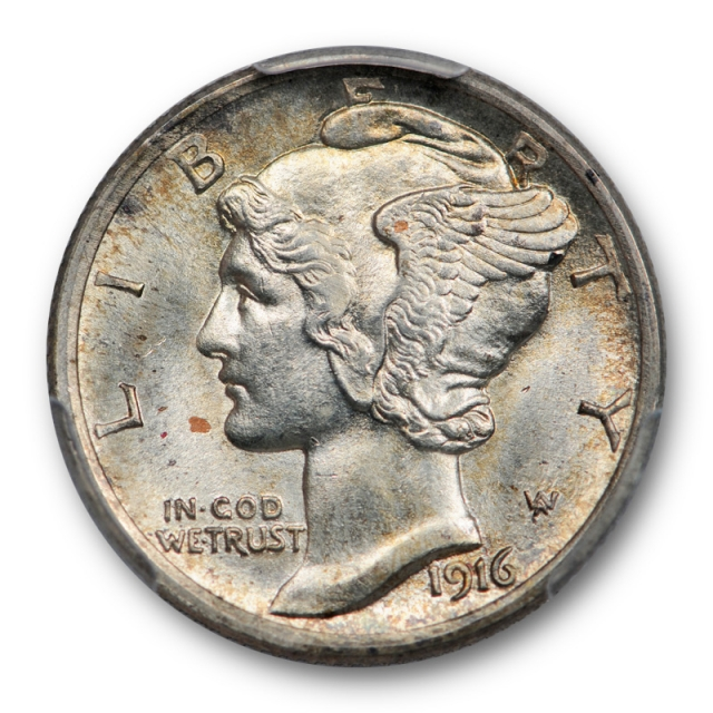 1916 10C Mercury Dime PCGS MS 65 FB Uncirculated Full Bands Nice US Coin