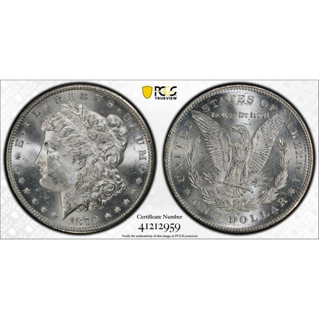 1879 S $1 Reverse of 1878 Morgan Dollar PCGS MS 63 Uncirculated Blast White  VAM 9