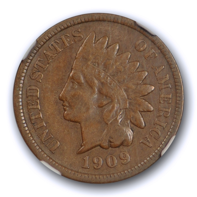 1909 S 1c Indian Head Cent NGC VF 25 Very Fine to Extra Fine Key Date Original Cert#9002
