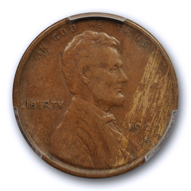 1909 S VDB 1C Lincoln Wheat Cent PCGS VF 25 Very Fine to Extra Fine Key Date Cert#5646