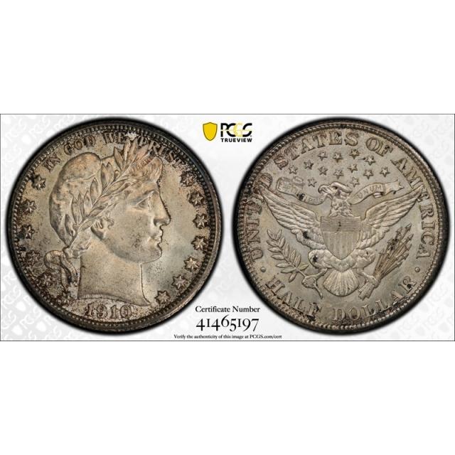 1910 50C Barber Half Dollar PCGS MS 64 Uncirculated Tough Date Original !