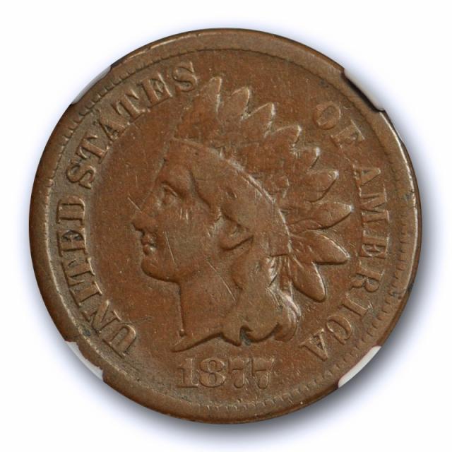1877 1C Indian Head Cent NGC F 12 Fine Key Date Original Tough Grade Coin !