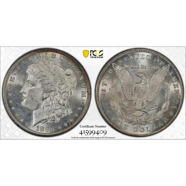 1880 CC $1 Morgan Dollar PCGS MS 65 Uncirculated Carson City Mint Cert#9409