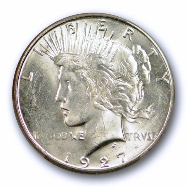 1927 S $1 Peace Dollar PCGS MS 62 Uncirculated San Francisco Mint Date Original