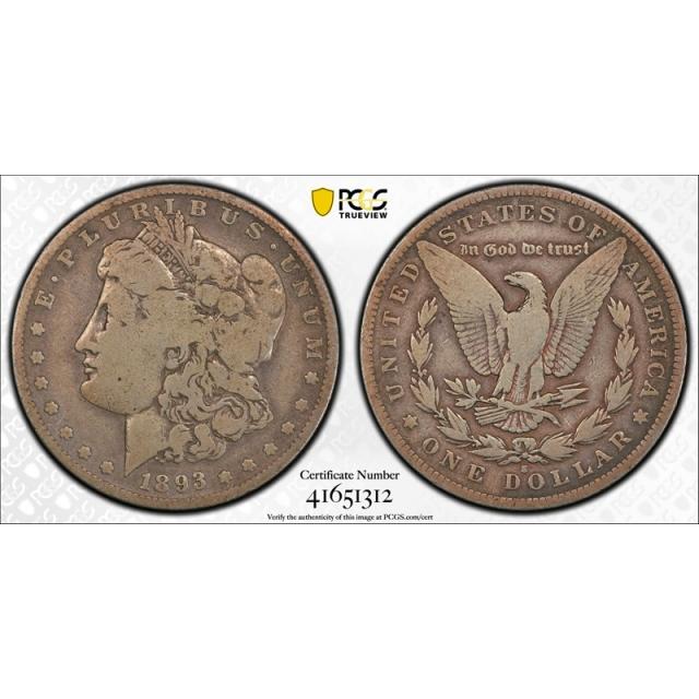 1893 S $1 Morgan Dollar PCGS VG 8 Very Good San Francisco Mint Key Date Tough