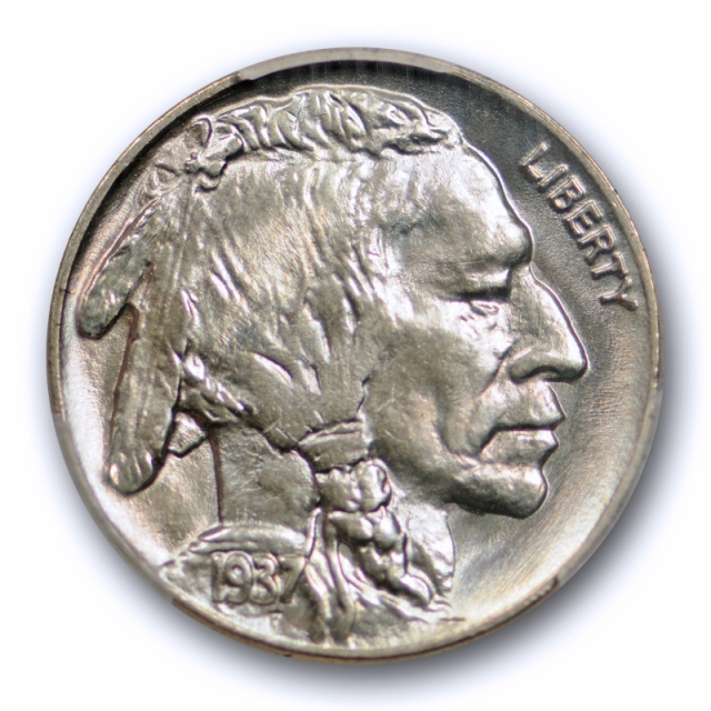 1937 5C Buffalo Nickel PCGS MS 67 Uncirculated Exceptional Quality Strike !