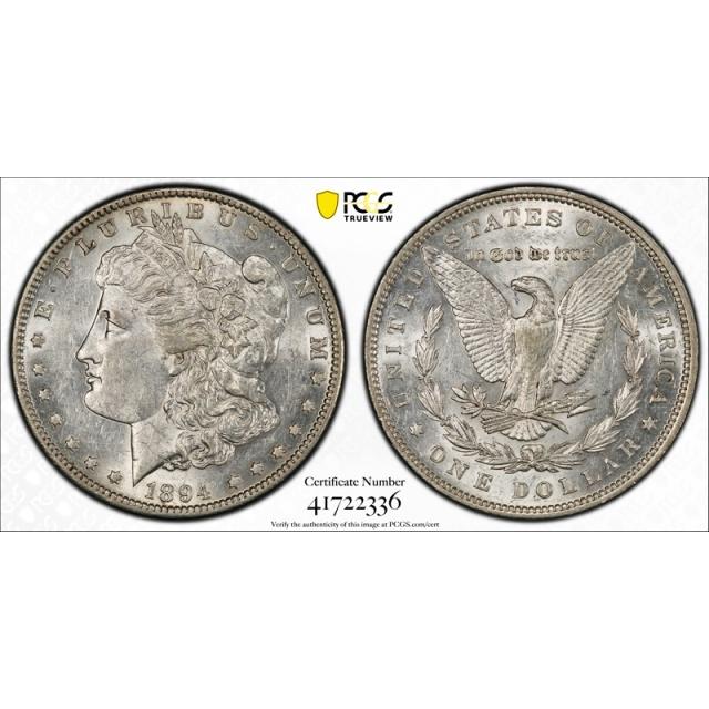 1894 $1 Morgan Dollar PCGS AU 55 About Uncirculated Key Date Tough Cert#2336