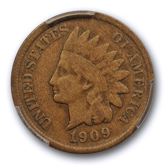 1909 S 1C Indian Head Cent PCGS F 15 Fine to Very Fine Key Date San Francisco Cert#0351