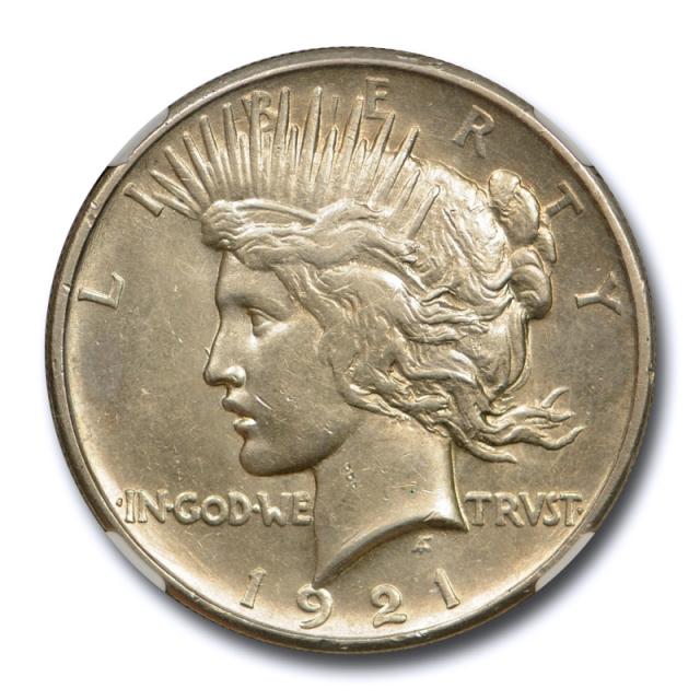 1921 $1 Peace Dollar NGC MS 62 Uncirculated Key Date High Relief Cert#1017