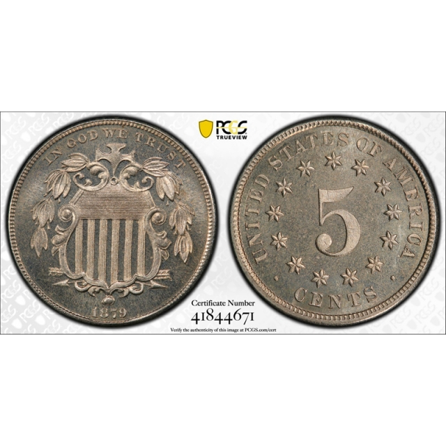 1879 5C Proof Shield Nickel PCGS PR 66 Key Date Low Mintage Exceptional Coin !