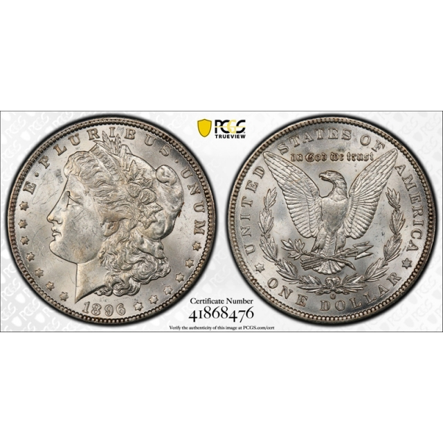 1896 O $1 Morgan Dollar PCGS MS 61 Uncirculated Mint State Exceptional Coin !