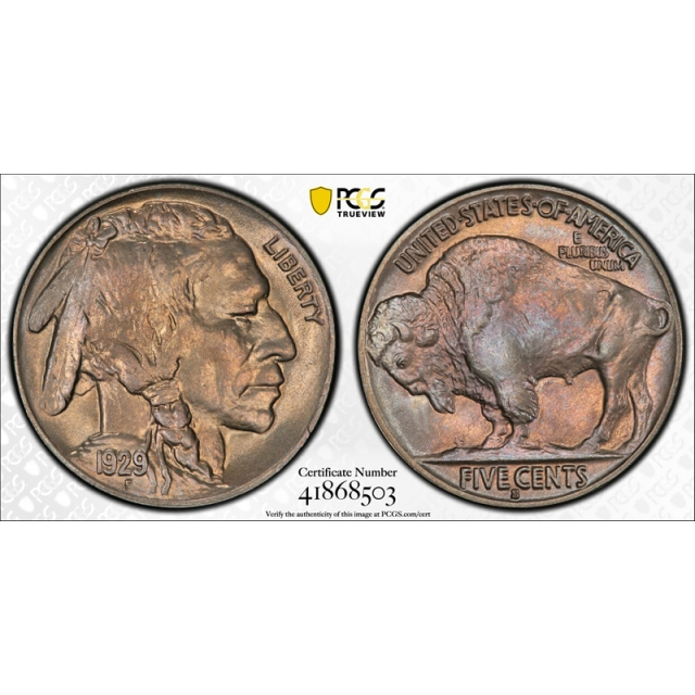 1929 S 5C Buffalo Nickel PCGS MS 66 Uncirculated Attractive Toned Beauty !