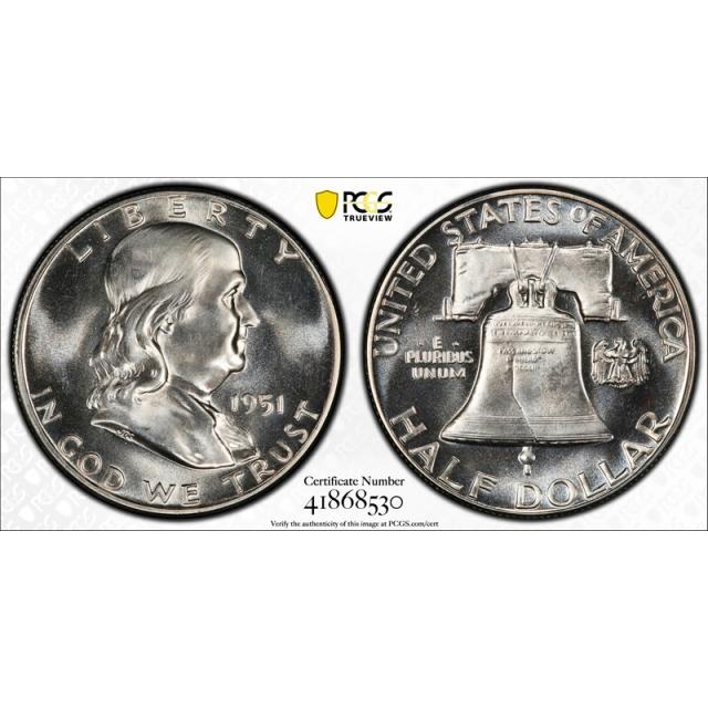 1951 50C Proof Franklin Half Dollar PCGS PR 65 Exceptional Coin Nice !