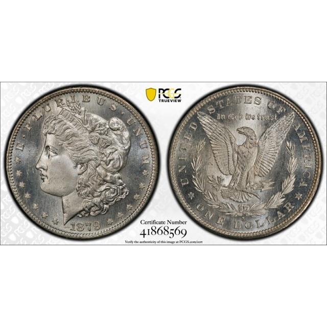 1879 S $1 Morgan Dollar PCGS MS 67 Uncirculated Exceptional CAC Approved Stunning !