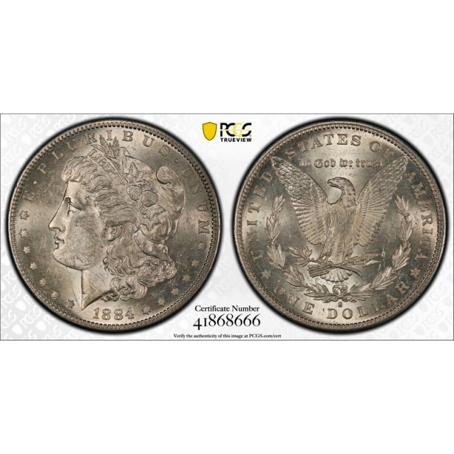 1884 S $1 Morgan Dollar PCGS AU 58 About Uncirculated EX: Mint State Grade ! Tough Coin
