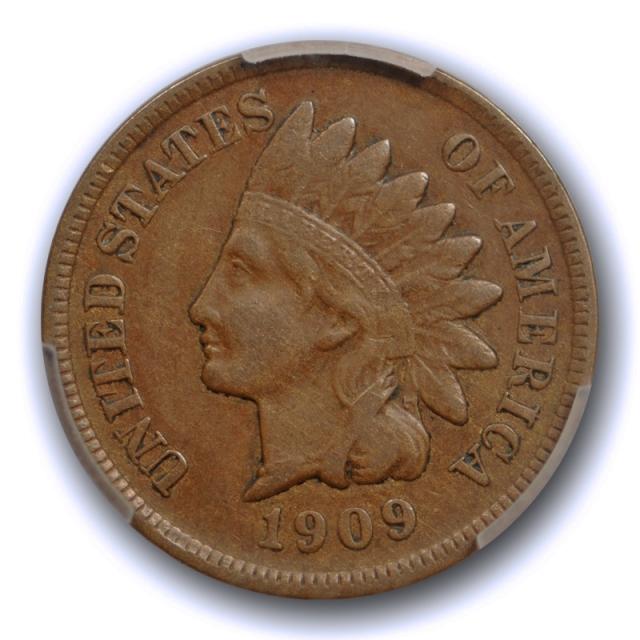 1909 S 1C Indian Head Cent PCGS VF 35 Very Fine to Extra Fine Key Date Original