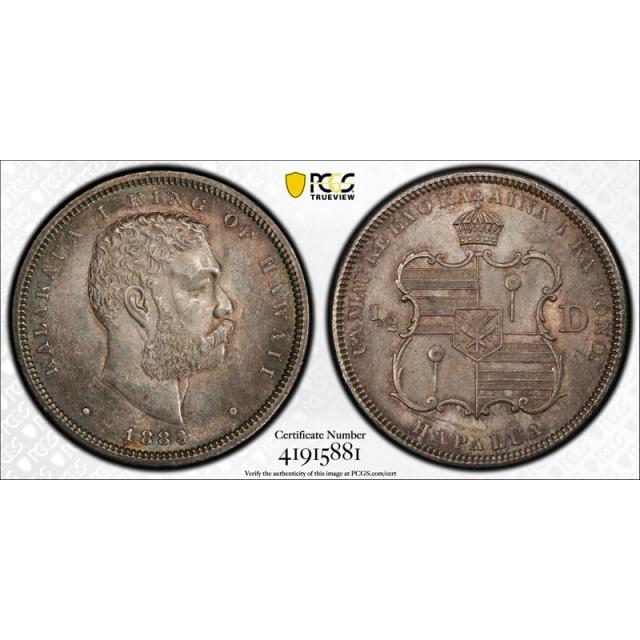 1883 50C Hawaii PCGS MS 62 Uncirculated Kingdom of Hawaii Original Toned