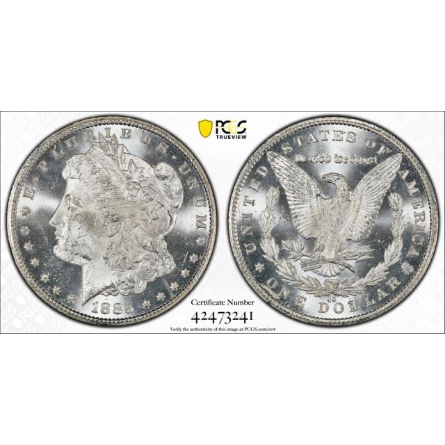1885 CC $1 Morgan Dollar PCGS MS 63 Carson City Mint CAC Approved Nice !
