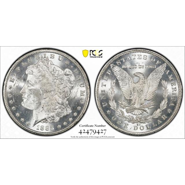 1885 CC $1 Morgan Dollar PCGS MS 63 Carson City Mint CAC Approved Cert#9427