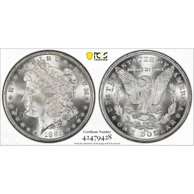 1885 CC $1 Morgan Dollar PCGS MS 64+ Carson City Mint Blast White !