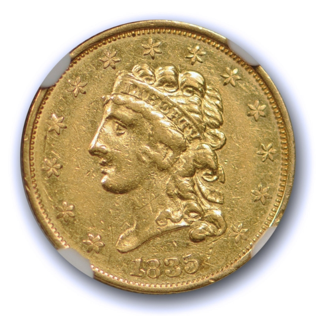 1835 $2.5 Classic Head Quarter Eagle Gold Piece NGC AU 53 About Uncirculated US Type