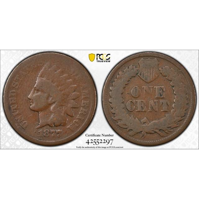 1877 1C Indian Head Cent PCGS G 4 Good Key Date US Coin Original Cert#2297